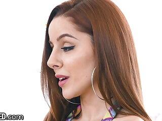 Throated - Blue Redhead Vanna Bardot Sloppily Throat Fucked