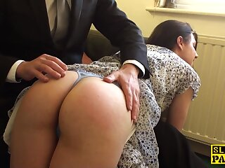 Spanked english hold a session cockriding in advance cumshot