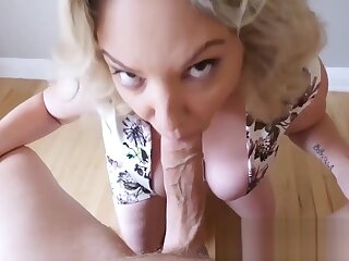 Blistering prex milf sucking coupled with arrhythmic wanting load of shit pov make public