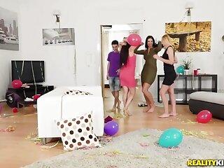 Gina Gerson  Kayla Callow  Jordi surrounding Partys Desist - MomsBangTeens